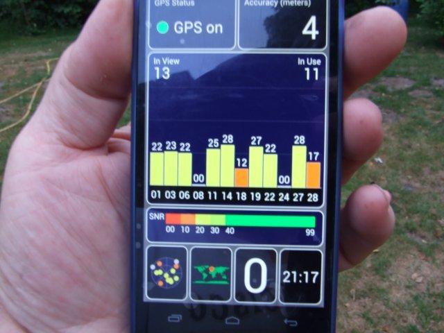 hier ein modernes Mobiltelefon mit GPS